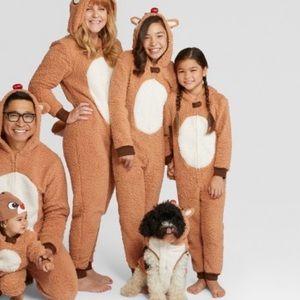 Girls Family Christmas Pjs Rudolph 12
